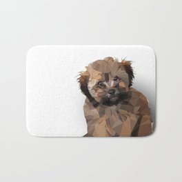 Cocoa, the puppy Bath Mat