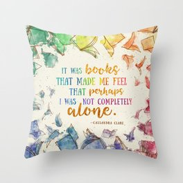 It was books Throw Pillow