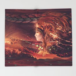 Shadow of a Thousand Lives - Visionary - Manafold Art Throw Blanket