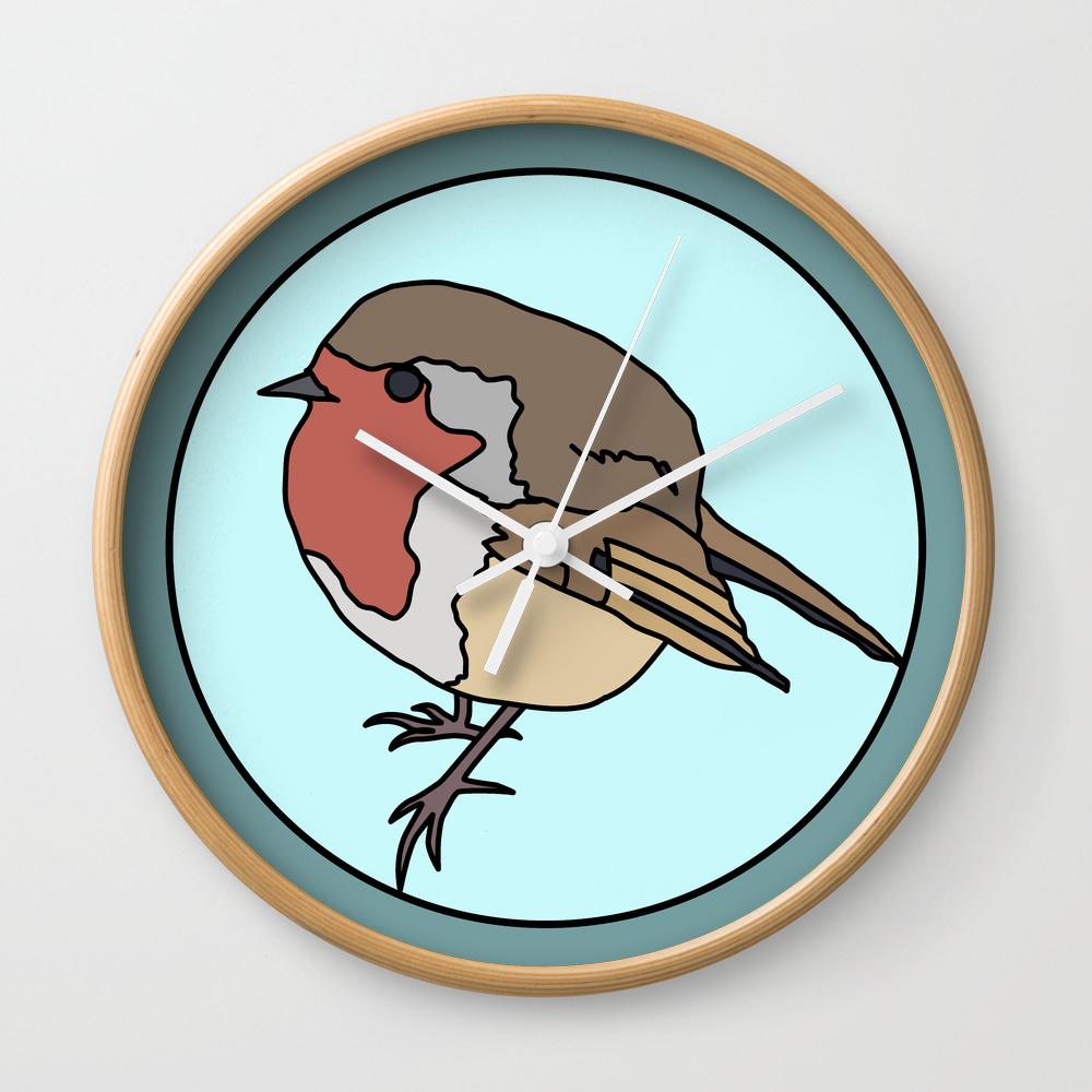 Robin - Robin Redbreast Wall Clock by Mothpathtags (CLK8909815) photo