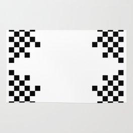 Pixels on White Rug