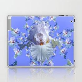 BLUE-WHITE IRIS ABSTRACT PATTERN Laptop & iPad Skin