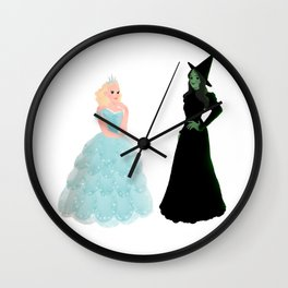 Elphaba and Glinda Wall Clock