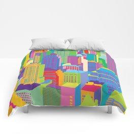 Cityscape windows Comforters