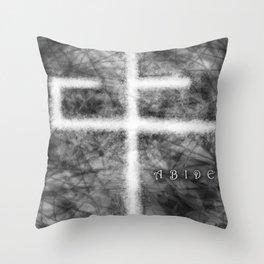 Abide Black & White Throw Pillow
