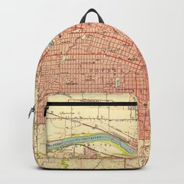 Vintage Map of Topeka Kansas (1951) Backpack