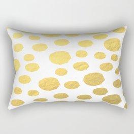 Gold Polka Art Rectangular Pillow