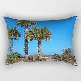 Beach Loafing Rectangular Pillow