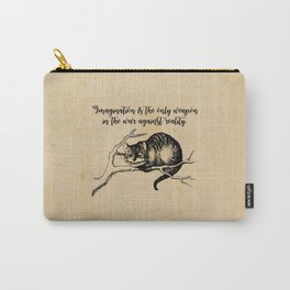 Imagination - Lewis Carroll - Alice in Wonderland Carry-All Pouch
