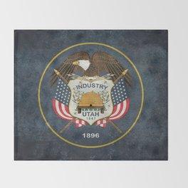 Utah State Flag - vintage version Throw Blanket