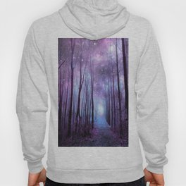 Fantasy Forest Path Muted Violet Hoody