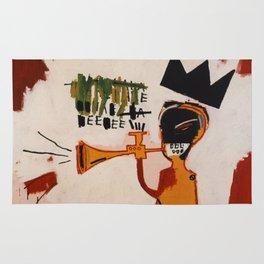 basquiat trumpet Rug
