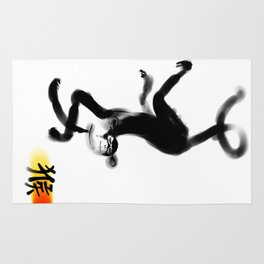 Chinese Ink Monkey Rug