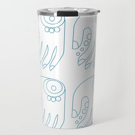 Hindu symbolic art indigo blue Travel Mug