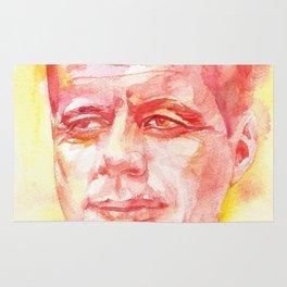 JOHN F. KENNEDY - watercolor portrait.3 Rug