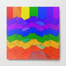 Origami Rainbow Metal Print