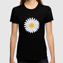 Spring Daisies_Black T-shirt