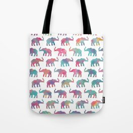 Elephants on Parade in Watercolor Tote Bag