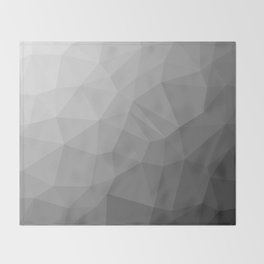 LOWPOLY BLACK AND WHITE Throw Blanket