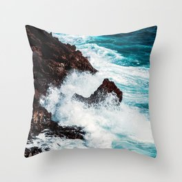 CONFRONTING THE STORM Throw Pillow