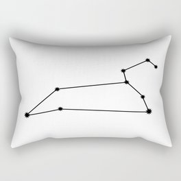 Leo Astrology Star Sign Minimal Rectangular Pillow