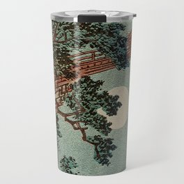 Saruhashi Bridge in Kai Province Japan Travel Mug