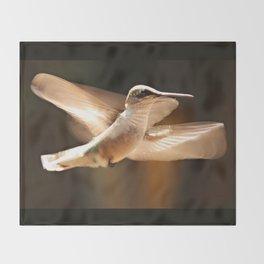 The Delight Of Hummingbird Wings Throw Blanket