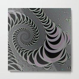Space Worm - Black and White II. Metal Print