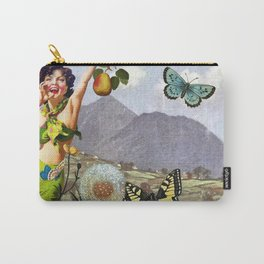 Vintage Landscape Collage Carry-All Pouch