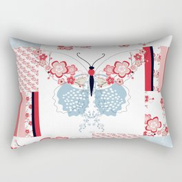 Cherry Blossom Butterfly Collection Rectangular Pillow