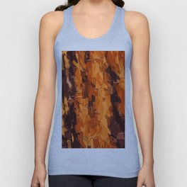 brown and dark brown painting abstract background Unisex Tank Top