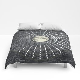 Phases // Moon Calendar 2017 Comforters
