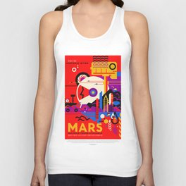Mars - NASA Space Travel Poster (Alt) Unisex Tank Top