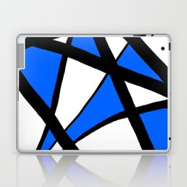 China Blue Geometric Triangle Abstract Laptop & iPad Skin