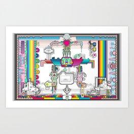 perspective_rainbow_wallpaper_large Art Print