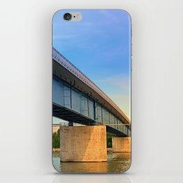 Bridge across the river Danube II | architectural photography iPhone Skin