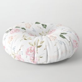 Floral Blossom - Muted Pink Floor Pillow