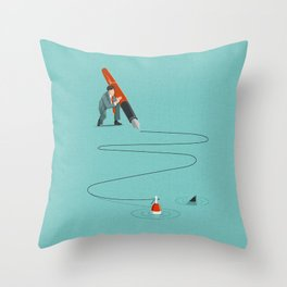 At The End Of The Line Throw Pillow