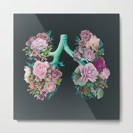 Floral Lungs Metal Print