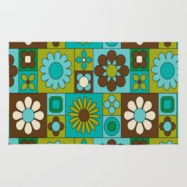 Flower power retro design Rug