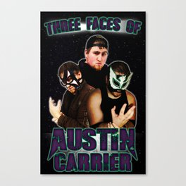 Three Faces of Austin Carrier Canvas Print