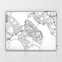 Halifax Map, Canada - Black and White Laptop & iPad Skin
