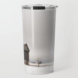 Winter Barn Travel Mug