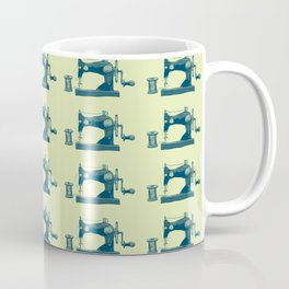 Vintage Machine Sewing Needle Pattern Coffee Mug