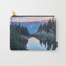 Hikers Bliss Perfect Scenic Nature View \ Mountain Lake Sunset Beautiful Backpacking Landscape Photo Carry-All Pouch