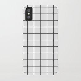 Grid Simple Line White Minimalistic iPhone Case