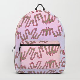 Pattern goes uphill Backpack