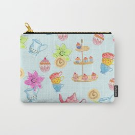 Tea party blue Carry-All Pouch