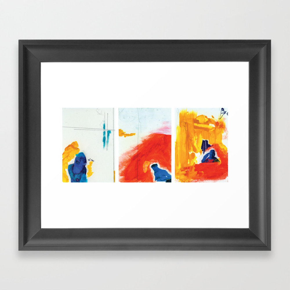 Three Studies For Figures At The Base Of A Crucifi… Framed Art Print by Aleczg FRM857803