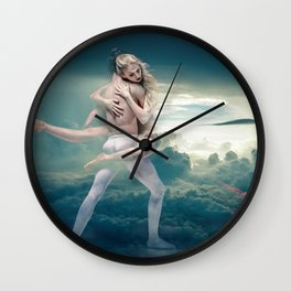 Dancers in the Sky Wall Clock